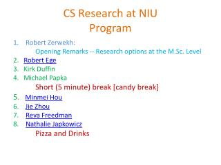 CS Research at NIU Program