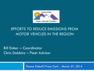 Efforts to Reduce Emissions from Motor Vehicles in The Region