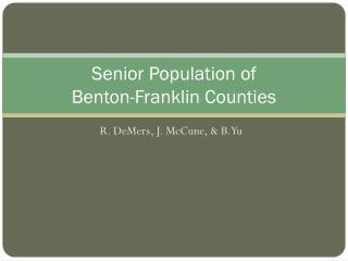 Senior Population of  Benton-Franklin Counties