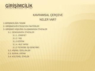 GİRİŞİMCİLİK