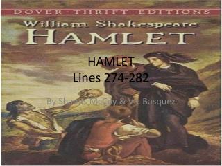 HAMLET Lines 274-282