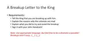 A Breakup Letter to the King