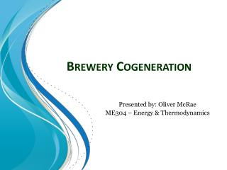 Brewery Cogeneration