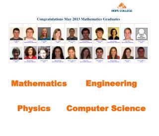 Congratulations May 2013  Mathematics  Graduates