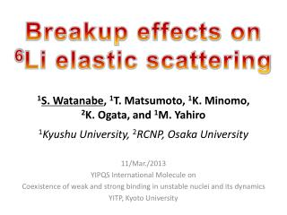 Breakup effects on   6 Li elastic scattering