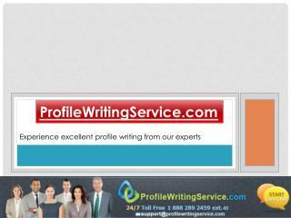 Profile Writing Service