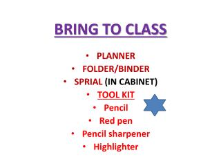 BRING TO CLASS