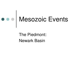 Mesozoic Events