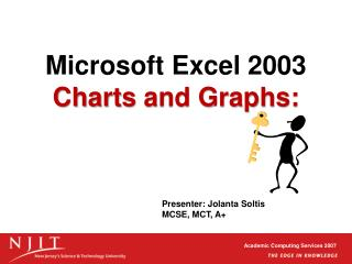 Microsoft Excel 2003 Charts and Graphs: