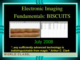 Electronic  Imaging  Fundamentals: BISCUITS