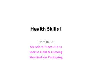 Health Skills I