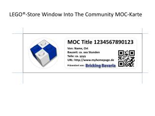 LEGO®-Store  Window Into  The  Community MOC-Karte