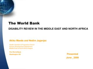 The World Bank DISABILITY REVIEW IN THE MIDDLE EAST AND NORTH AFRICA