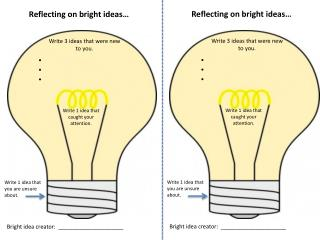 Reflecting on bright ideas…
