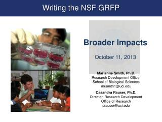 Writing the NSF GRFP