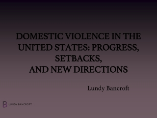 A Response to Domestic Violence