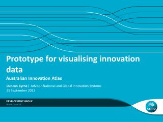 Prototype for visualising innovation data