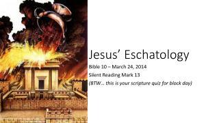 Jesus' Eschatology