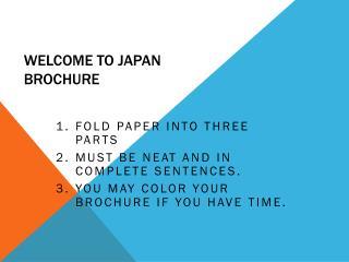 Welcome to Japan Brochure