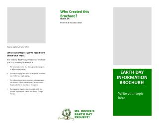 Earth day Information brochure!