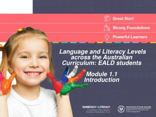 Language and Literacy Levels across the Australian Curriculum: EALD students Module  1.1