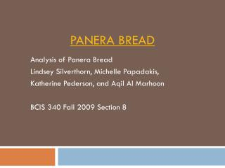 panera bread case study financial analysis Hyapatia green panera bread - case analysis and evaluation of the successful operations and financial panera bread case study essay.