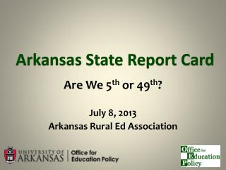 Arkansas State Report Card