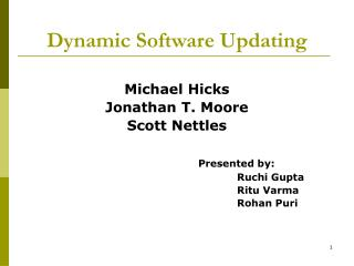 Dynamic Software Updating