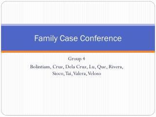 Family Case Conference