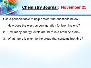 Chemistry Journal :   November 25