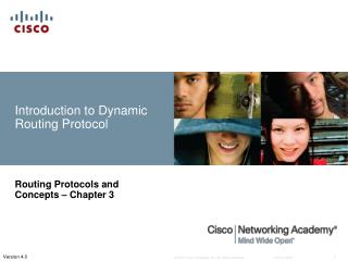 Introduction to Dynamic Routing Protocol