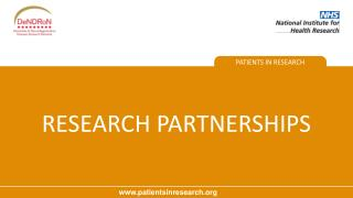 RESEARCH PARTNERSHIPS