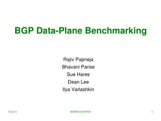 BGP Data-Plane Benchmarking