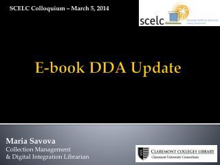 E-book DDA Update