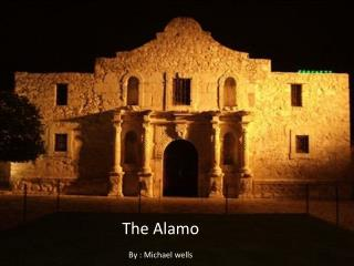 The Alamo By : Michael wells