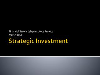 Strategic Investment