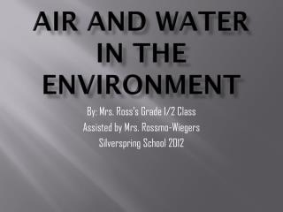 Air and Water in the Environment