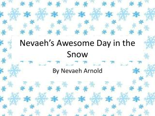 Nevaeh's  Awesome  D ay in the Snow