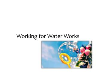 Working for Water Works
