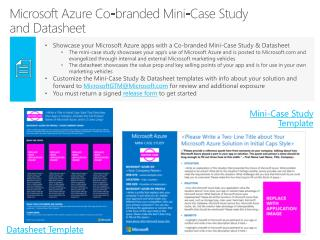 Microsoft Azure  Co-branded  Mini-Case  Study  and  Datasheet