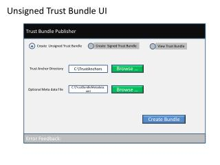 Trust Bundle Publisher