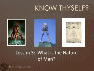 Know Thyself?