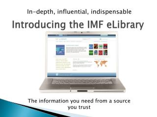 Introducing the IMF  eLibrary