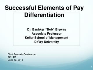 Successful Elements of Pay Differentiation