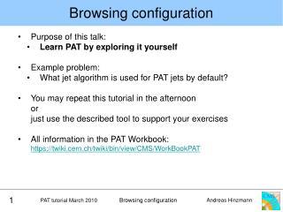 Browsing configuration