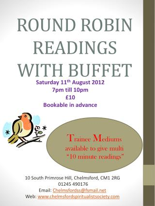 ROUND ROBIN READINGS WITH BUFFET