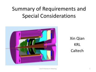 Summary of Requirements and Special Considerations