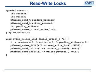 Read-Write Locks