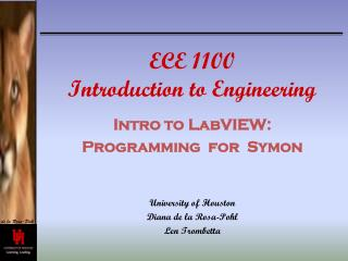 ECE 1100 Introduction to Engineering