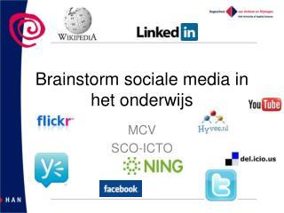 Brainstorm sociale media in het onderwijs